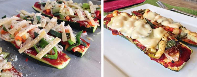 Vegetarische courgette pizzaatjes || www.goodtobeyou.nl