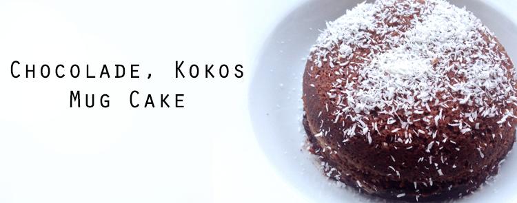Ontbijtrecept: Chocolade, Kokos mug cake
